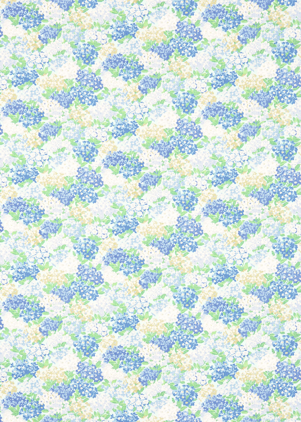 Sanderson Cottage Garden Sky / Periwinkle Fabric - Product code: 224325