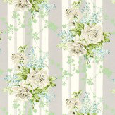 Sanderson Cecile Rose Ivory / Silver Fabric