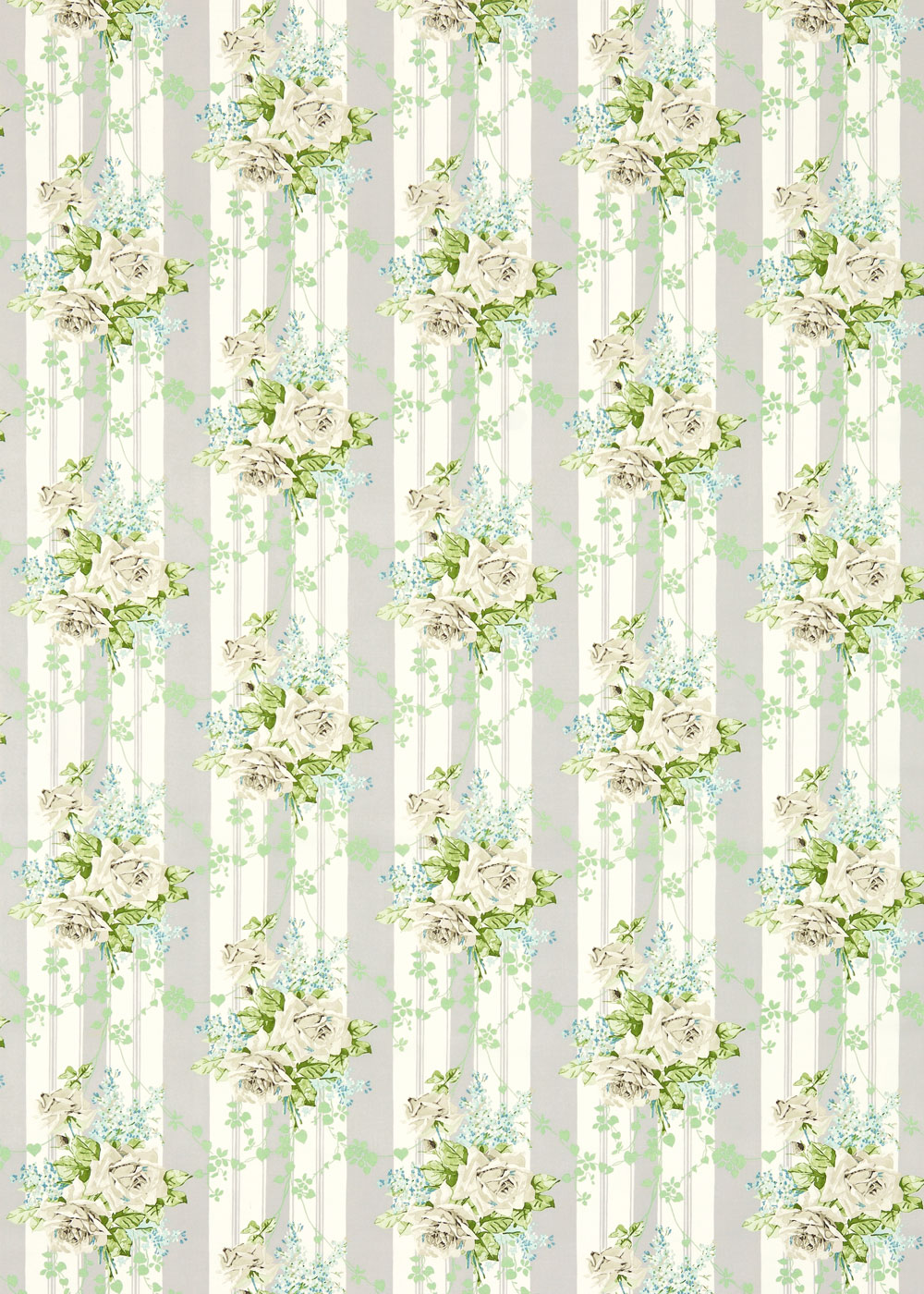 Sanderson Cecile Rose Ivory / Silver Fabric - Product code: 224327