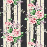 Sanderson Cecile Rose Ebony / Rose Fabric - Product code: 224328