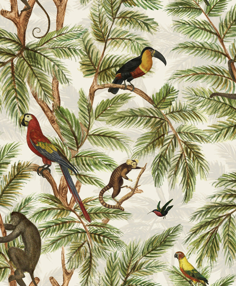 Graduate Collection Jungle Print Natural World Wallpaper main image