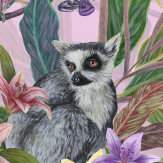 Graduate Collection Lemur Pink Tropical Fusion Wallpaper