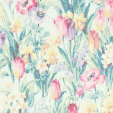 Sanderson Salad Days Porcelain / Pink Fabric - Product code: 224329