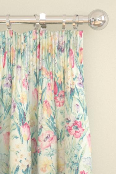 Sanderson Salad Days Porcelain / Pink Curtains - Product code: 224329