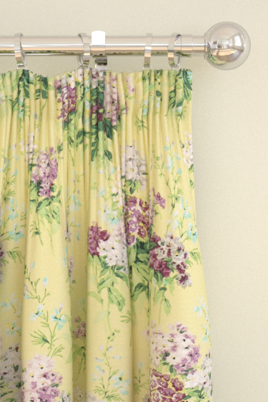 Sanderson Sweet Williams Linden / Mulberry Curtains - Product code: 224332