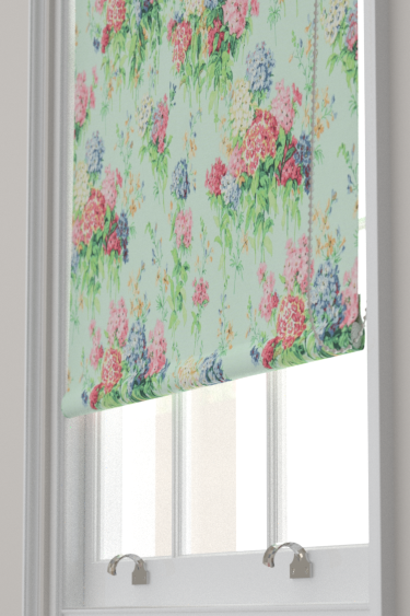 Sanderson Sweet Williams Duck Egg / Pink Blind - Product code: 224335