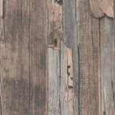 Albany Distressed Wood Pink Wallpaper