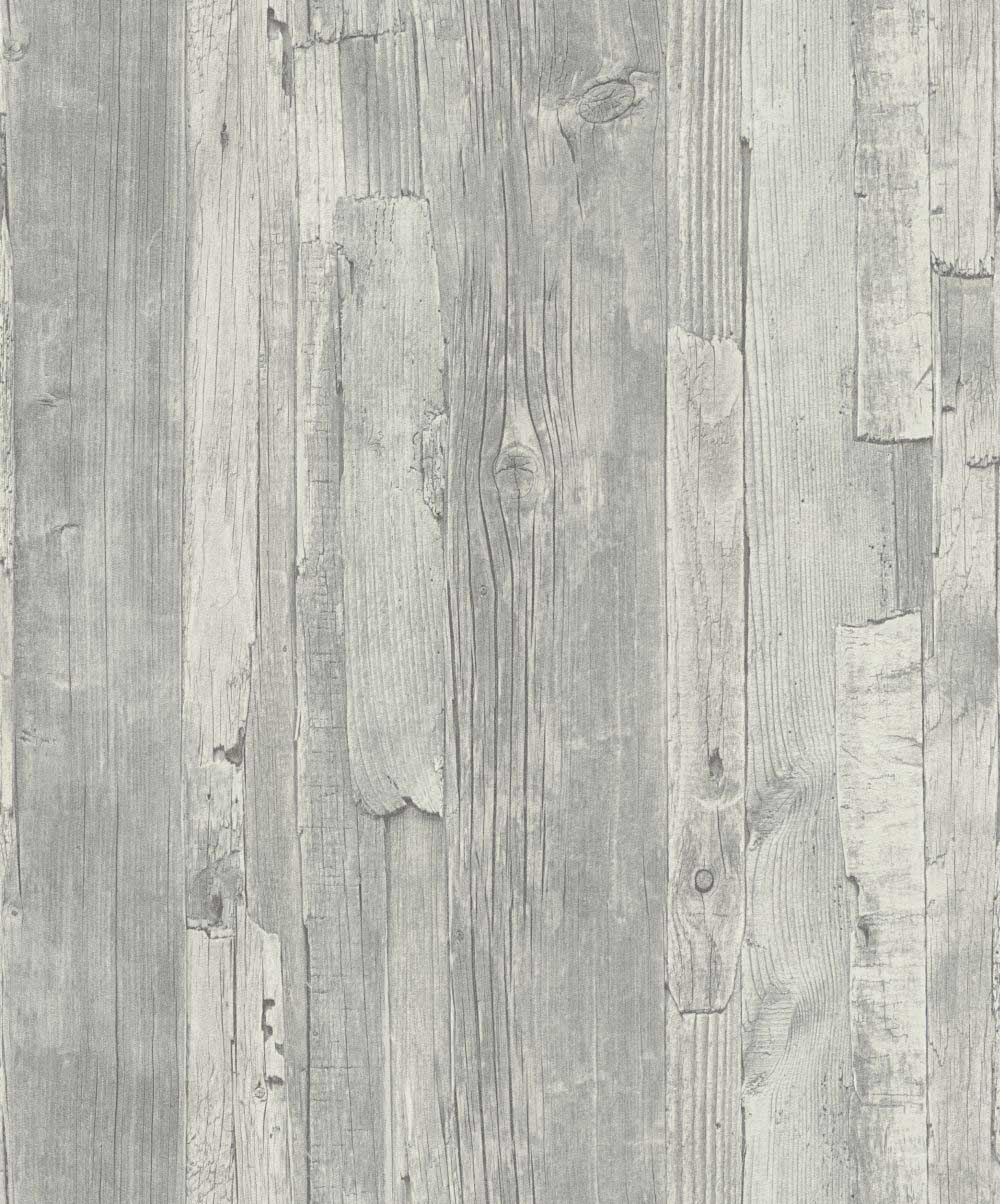 Distressed Wood Grey By Albany Grey Wallpaper Direct