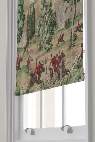 Sanderson Tally Ho Evergreen / Crimson Blind - Product code: 224338