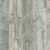 Albany Distressed Wood Duck Egg Wallpaper - Product code: 95405-5