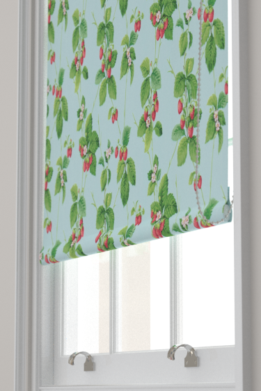 Sanderson Summer Strawberries Strawberry / Sky Blind - Product code: 224342