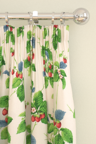 Sanderson Summer Strawberries Strawberry / Leaf Curtains - Product code: 224343