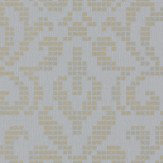 Albany Holographic Damask Motif Pale Blue Wallpaper