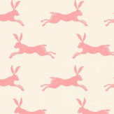 Jane Churchill March Hare Pink Wallpaper