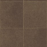Albany Leather Chocolate Brown Wallpaper