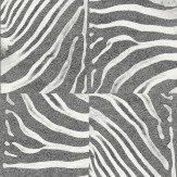 Albany Zebra Patchwork  Black Wallpaper