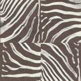 Albany Zebra Patchwork  Brown Wallpaper