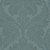 Zoffany Malmaison Teal Wallpaper