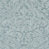 Zoffany Renaissance Damask Stockholm Blue Wallpaper