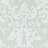 Zoffany Marmorino Platinum Grey Wallpaper