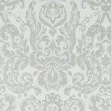 Zoffany Brocatello Silver Wallpaper