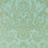 Zoffany Brocatello Verdigris Wallpaper