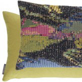 Harlequin Congo Cushion Olive & Flamingo