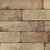 Albany Brick Effect Brown Wallpaper