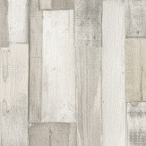 Albany Wooden Blocks White and Grey Wallpaper
