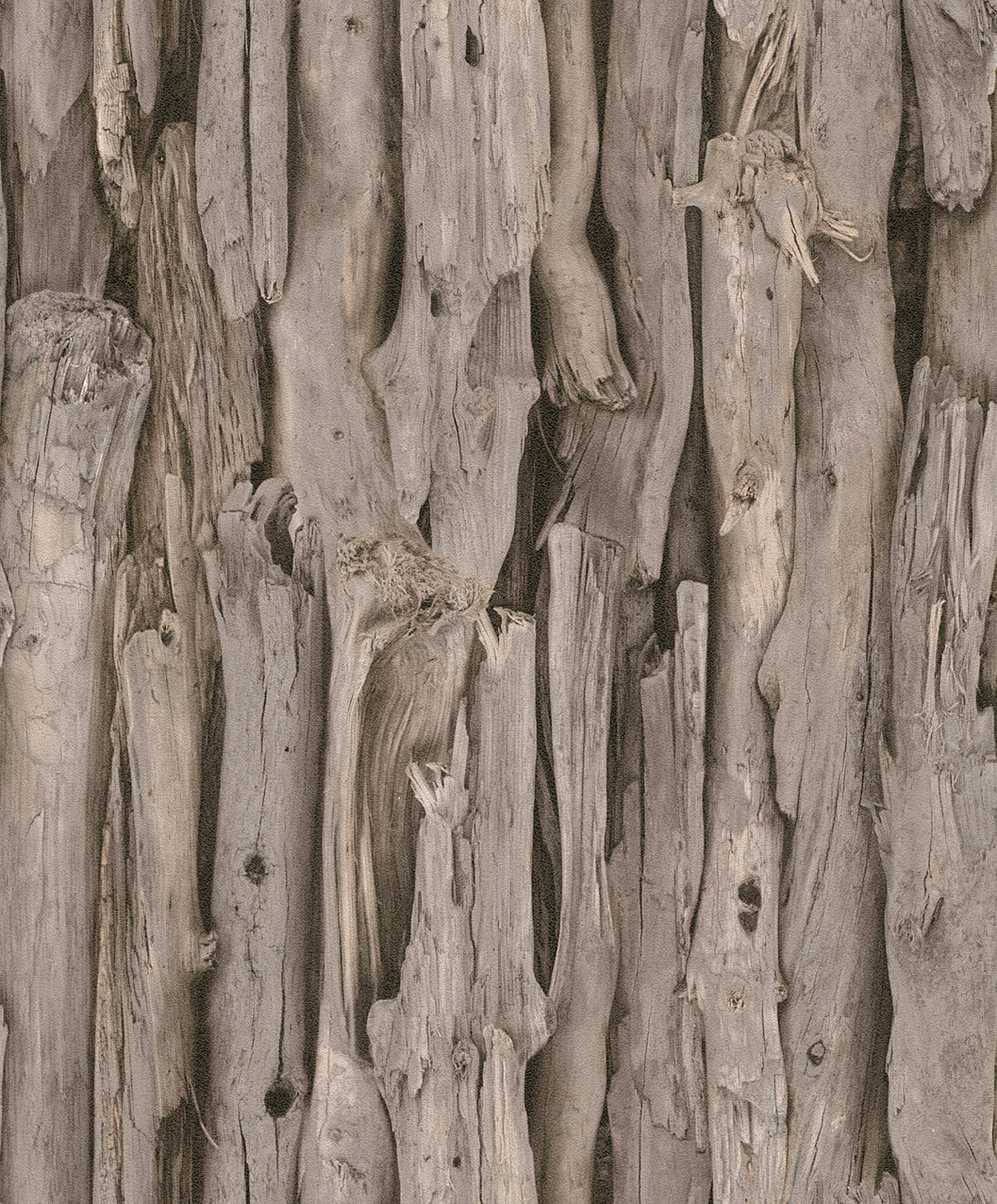 Albany Driftwood Brown Wallpaper main image