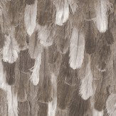 Albany Ostrich Feathers Effect Brown Wallpaper