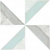 Louise Body Chalk Tile Blue  / Grey  Wallpaper