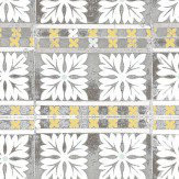 Louise Body Flora Tile Grey Wallpaper