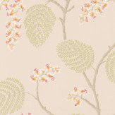 Colefax and Fowler Atwood Coral / Green Wallpaper