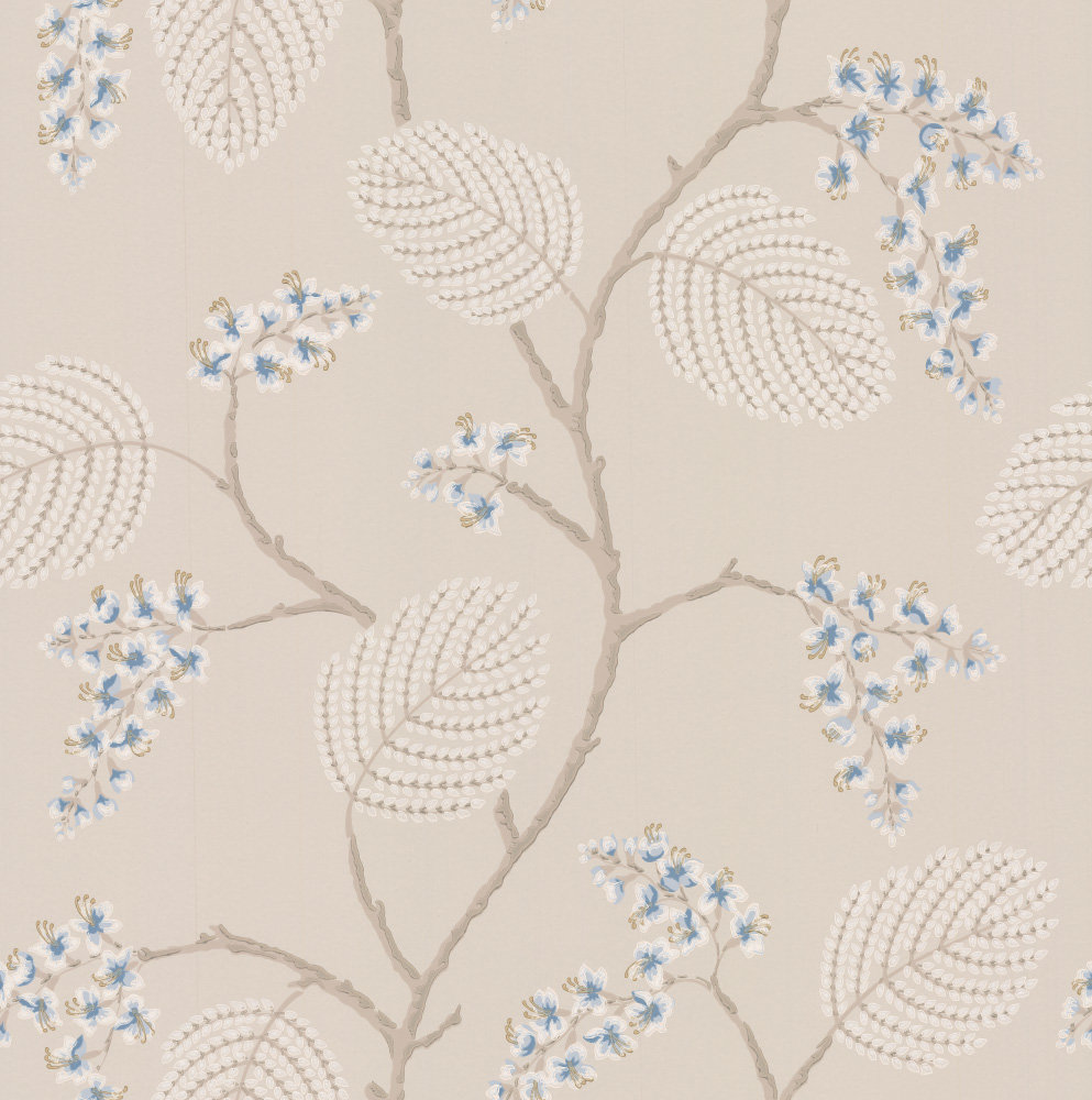 Colefax And Fowler Atwood Blue Beige Wallpaper Main Image