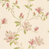 Colefax and Fowler Marchwood Green / Pink Wallpaper