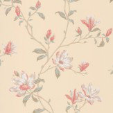 Colefax and Fowler Marchwood Pink / Beige Wallpaper