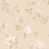 Colefax and Fowler Marchwood Ivory / Green Wallpaper