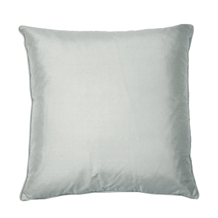 Silk Cushion - Chalk Grey - by Kandola