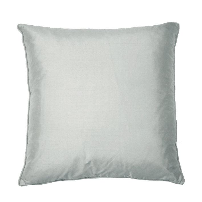 Silk Cushion - Chalk Grey - by Kandola
