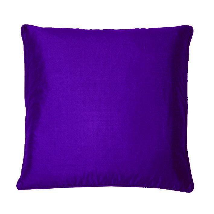 Silk Cushion - Dark Purple - by Kandola