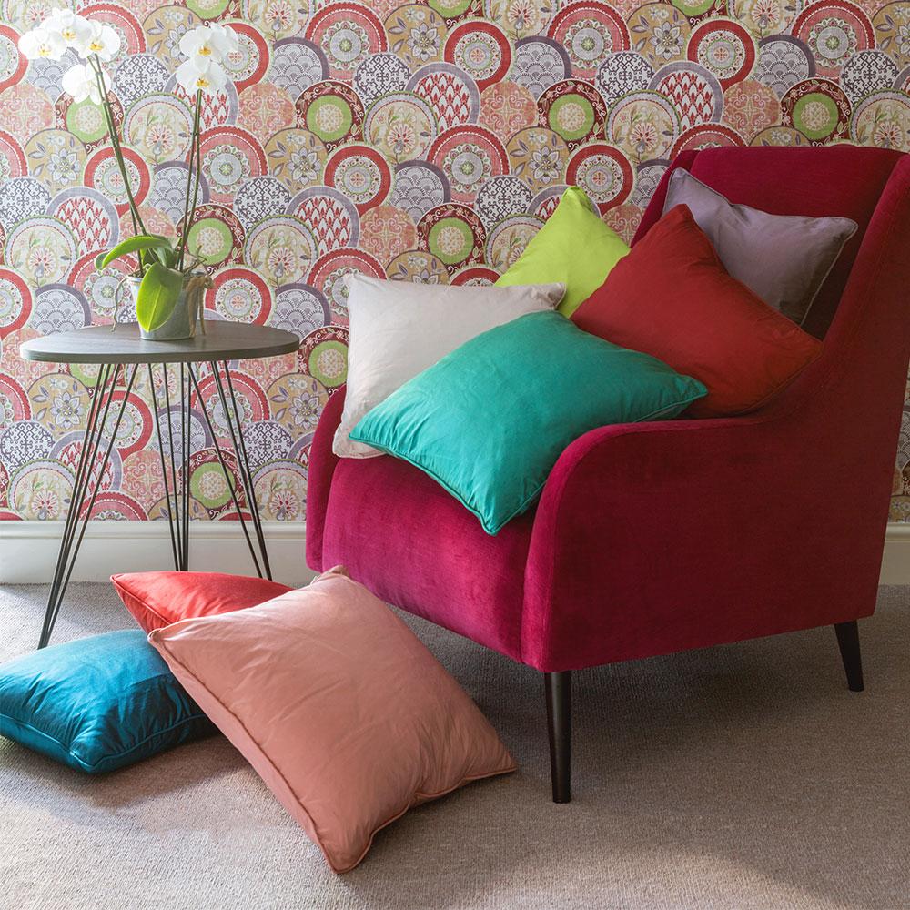 Kandola Silk Cushion Dark Turquoise - Product code: 167