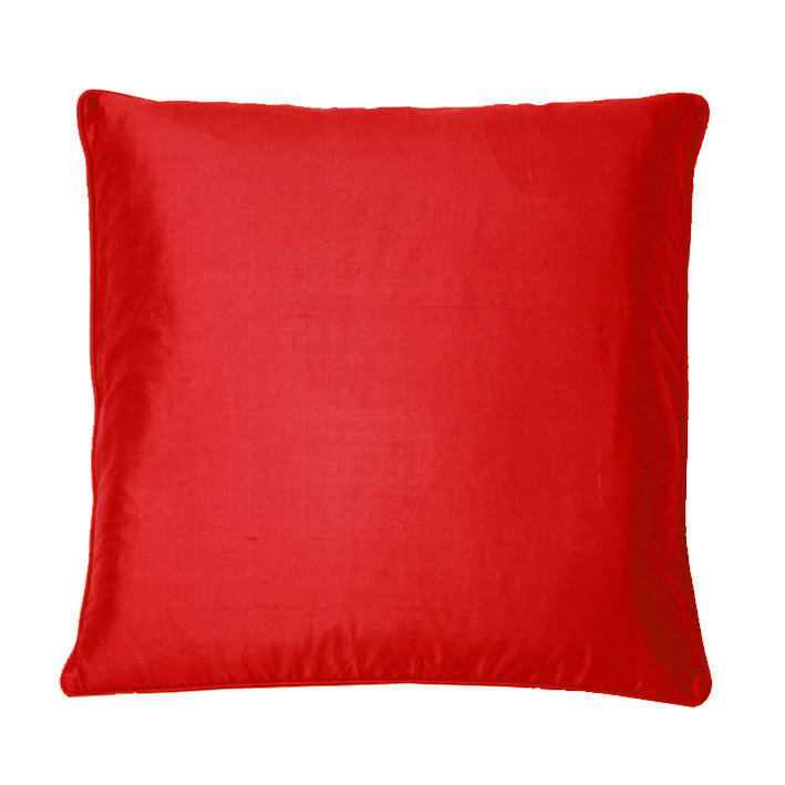 Silk Cushion - Emperor Red - by Kandola