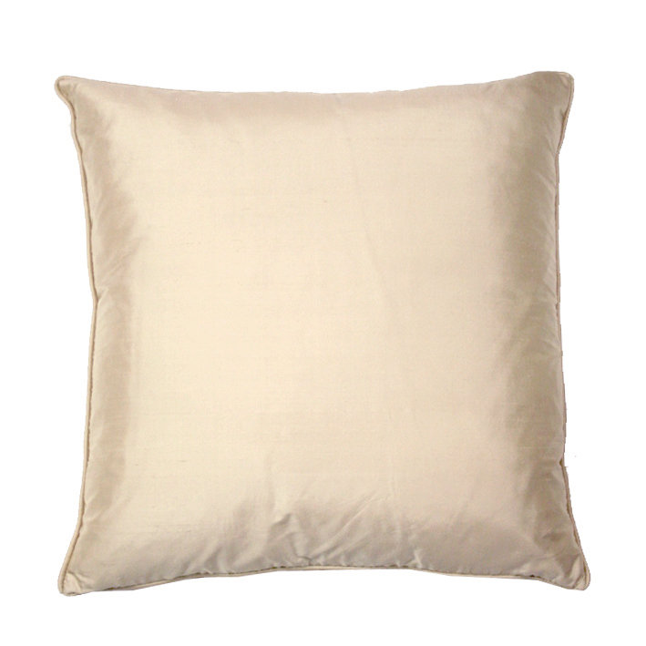 Silk Cushion - Oyster - by Kandola