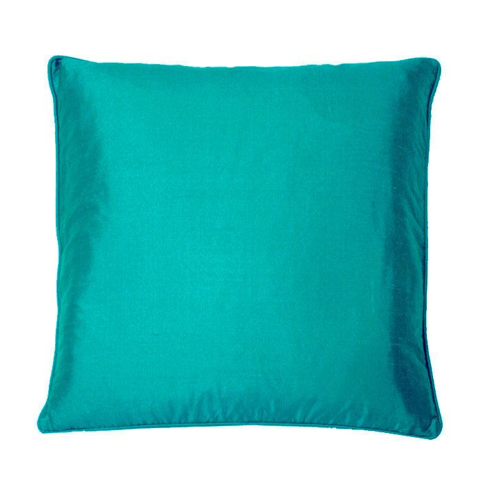 Silk Cushion - Peacock - by Kandola