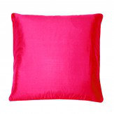 Kandola Silk Cushion Raspberry