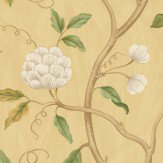 Colefax and Fowler Snow Tree Gold Wallpaper