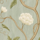 Colefax and Fowler Snow Tree Aqua  Wallpaper