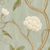 Colefax and Fowler Snow Tree Aqua  Wallpaper - Product code: 7949/04