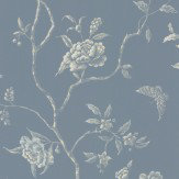 Colefax and Fowler Delancey Blue Wallpaper